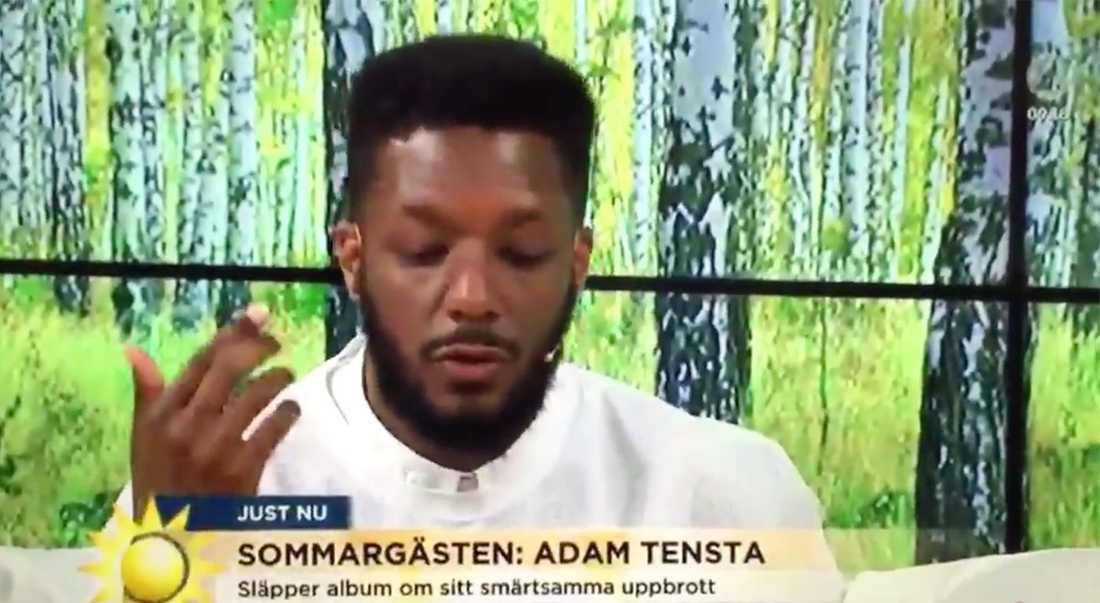 Adam Tensta var Nyhetsmorgons sommargäst.