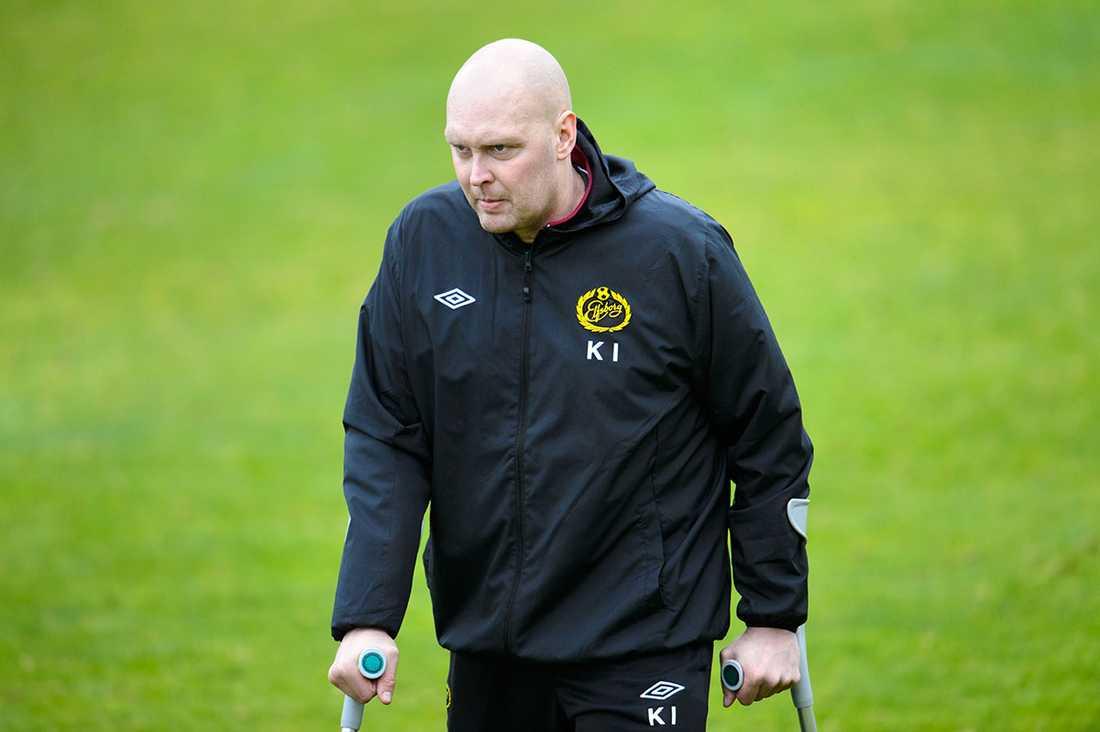Sista tiden var tuff, men han fortsatte ändå som tränare för Elfsborg in i det sista.