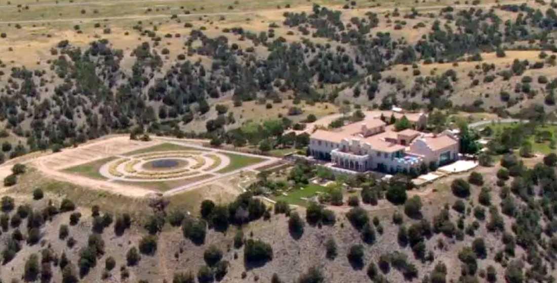 Jeffrey Epsteins hus i Santa Fe, New Mexico.
