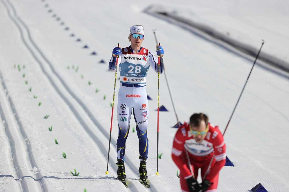 Oskar Svensson slutade sist i sprintfinalen.