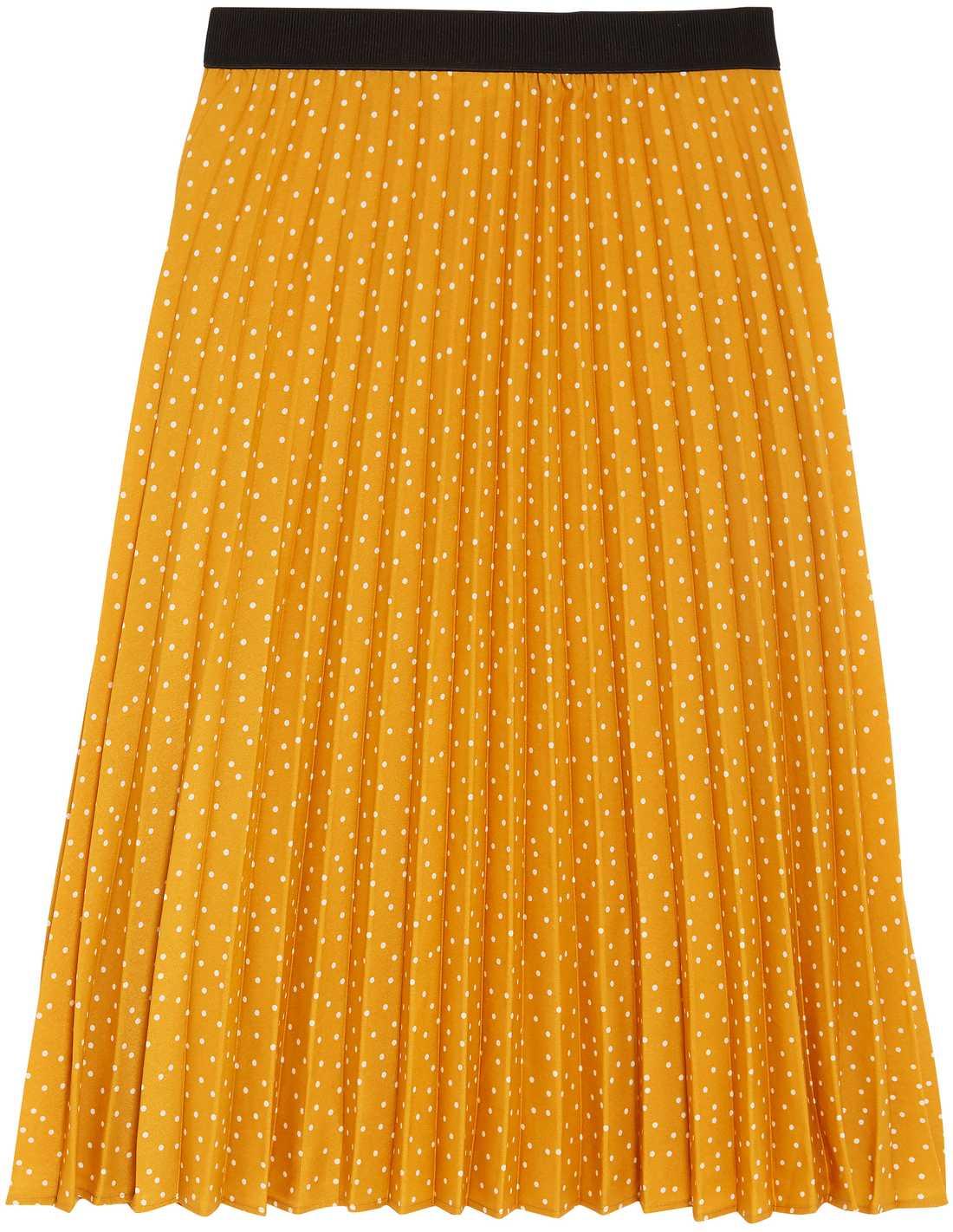 Senapsgul kjol med resår, 499 kronor, Kappahl.