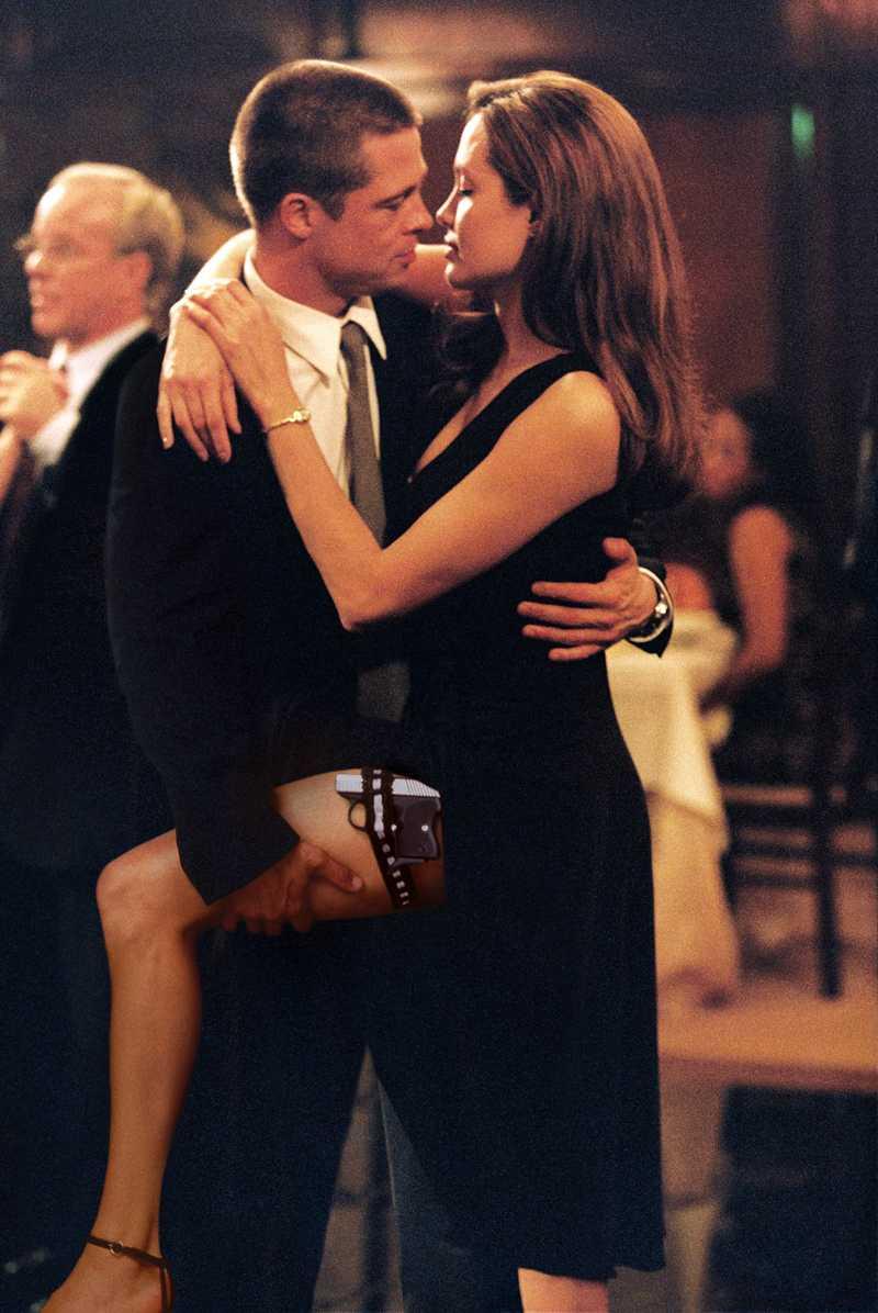 """Det var under inspelningen av """"Mr and Mrs Smith"""" som det hettade till mellan Pitt och Jolie. Brad Pitt var då gift med Jennifer Aniston."""