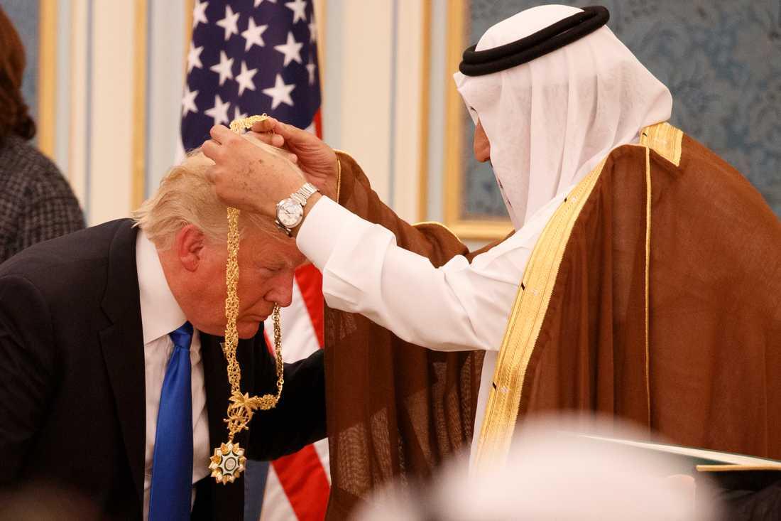 President Trump med kung Salman.