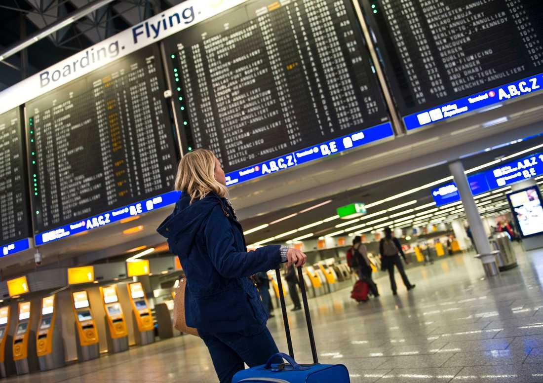 Det kan bli förseningar i trafiken på Frankfurts flygplats på söndag när en odetonerad flygbomb från andra världskriget som hittats i staden ska desarmeras. Arkivbild.