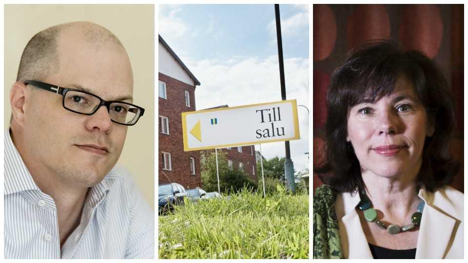 Både Jakob Eliasson, Villaägarnas riksförbund, och Ingrid Eiken, Mäklarsamfundet, är kritiska till nya förslaget.