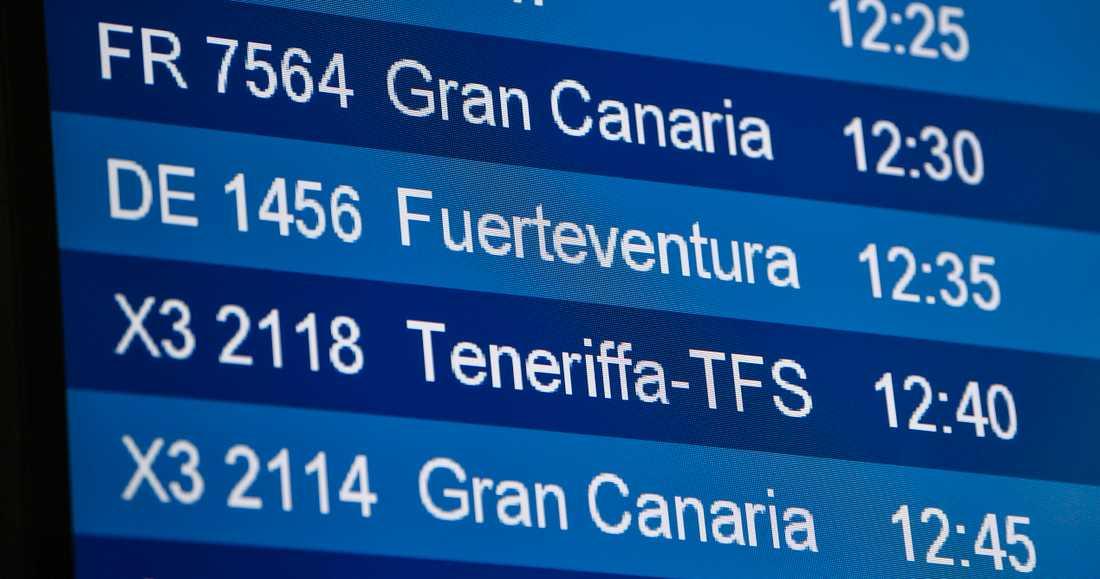 Planer på att fly höstmörkret för Kanarieöarna? Då kan ett covid-19-test krävas. Arkivbild.