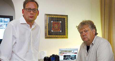 DE VÄNTAR Aftonbladets reporter Oisín Cantwell och fotograf Urban Andersson väntar fortfarande på presskorten som krävs för att få arbeta i Jerusalem.