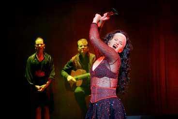 FENOMENAL Sissela Kyle dansar flamenco på ett helt utflippat sätt, ackompanjerad på spansk gitarr av Berghagen som raggare och knäpp sång av Anna-Maria Hallgarn. Vad Sissela Kyle än gör är det helt fenomenalt.