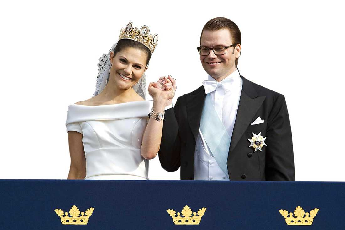The wedding Crown Princess Victoria and Prince Daniel at their wedding, June 19th 2010.