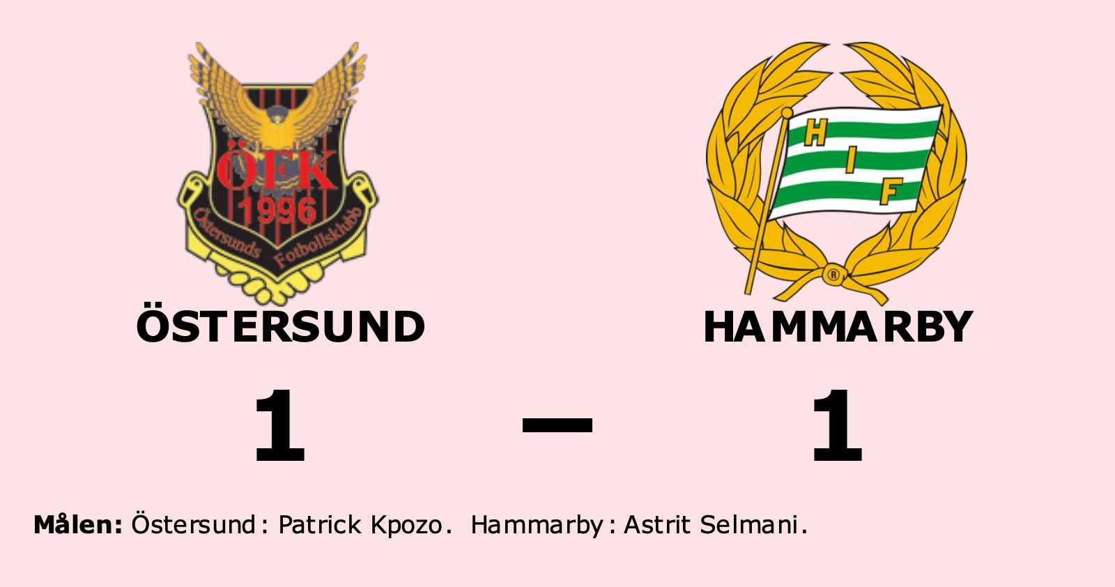 JUST NU: Nej, det gick inte för Bajen mot Östersunds FK