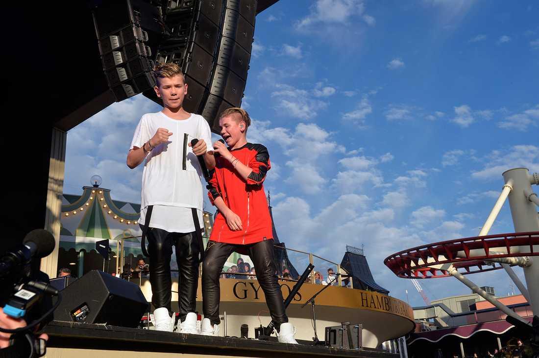 Marcus och Martinus på Gröna Lund.