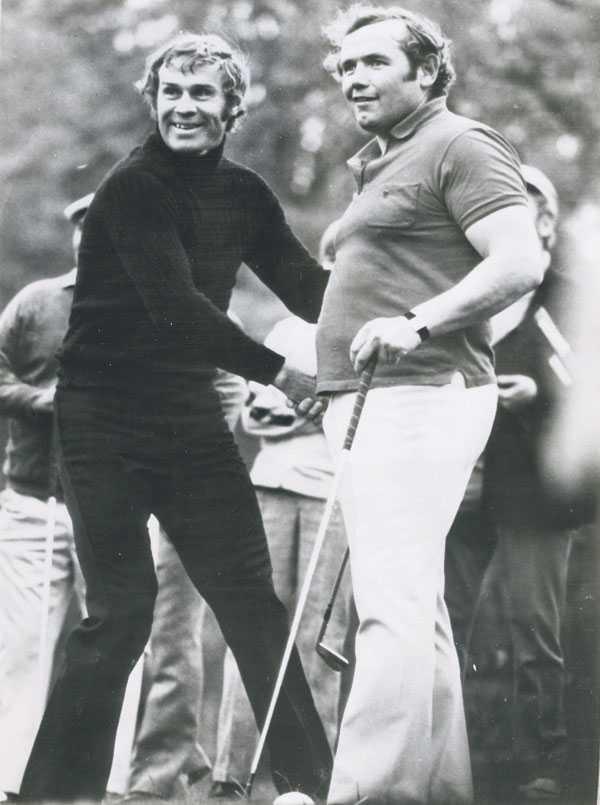 """Sven Tumba och Ingemar """"Ingo"""" Johansson delade intresset för golf. """"Vi spelade tillsammans i Florida och han brukade vara med på mina tävlingar. Det är inte klokt vad jag saknar honom."""""""