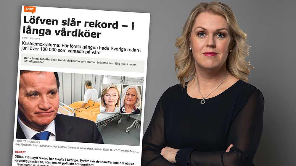 Det vore klädsamt om Ebba Busch Thor kunde idka självrannsakan om varför miljarder där har gått till konsultbolag istället för att investeras i vården, skriver Lena Hallengren (S) i en replik.