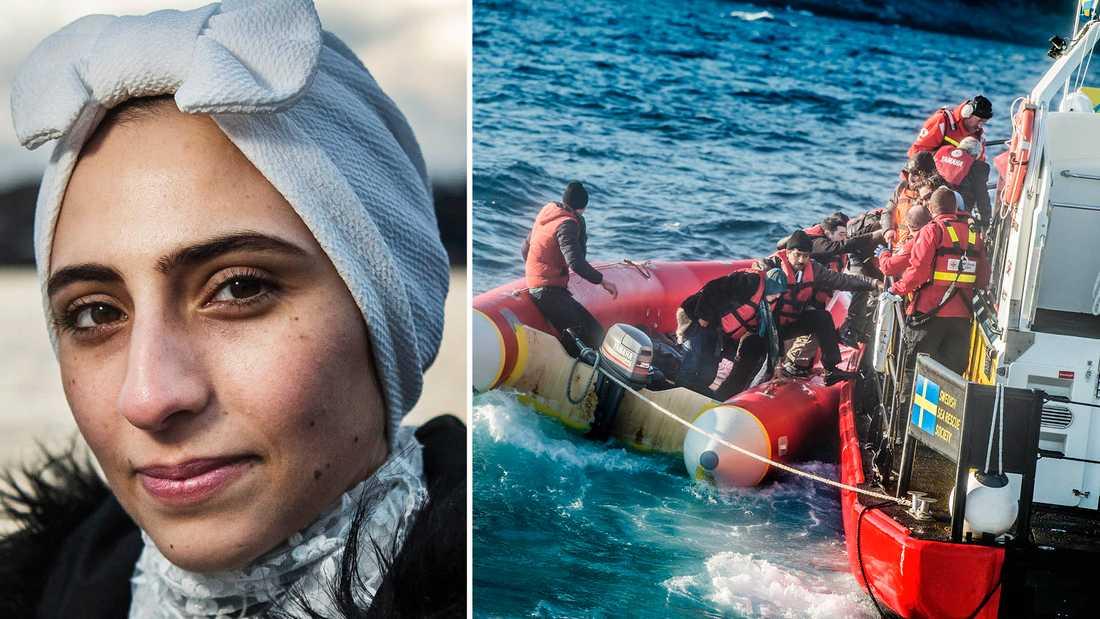 Doaa Al Zamel var en av elva som överlevde en enorm katastrof med flyktingbåt.