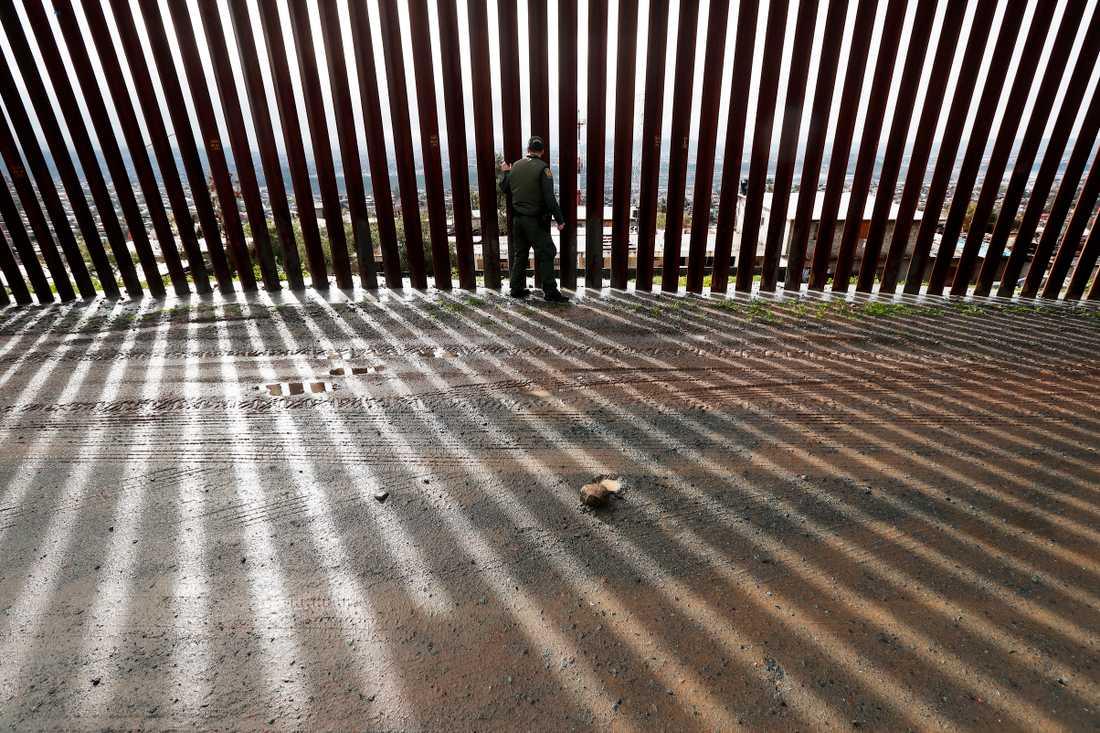Vid gränsen mellan USA och Mexiko vid San Diego/Tijuana. Arkivbild.