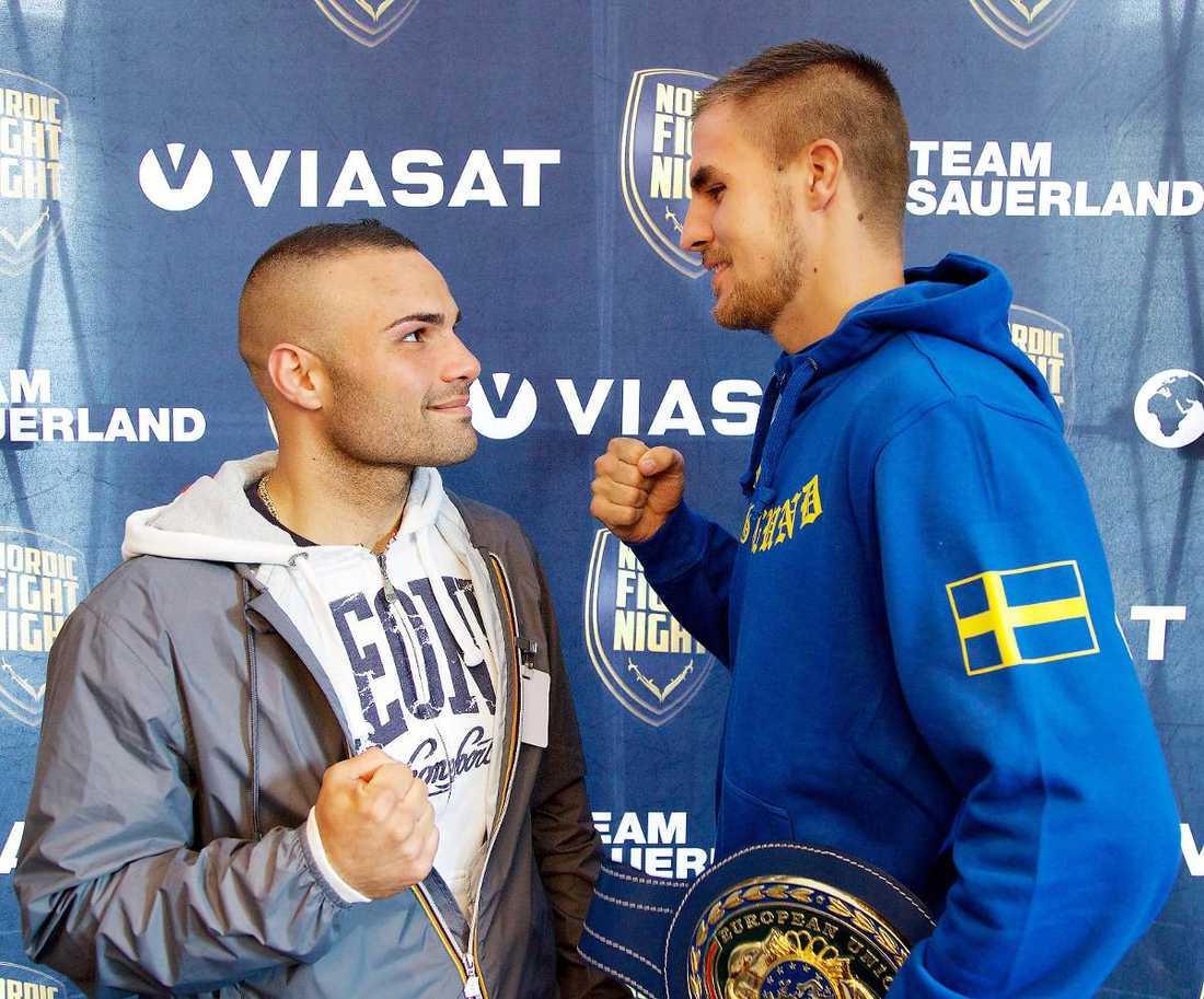 Stefan Abatangelo är Erik Skoglunds motståndare i morgon.