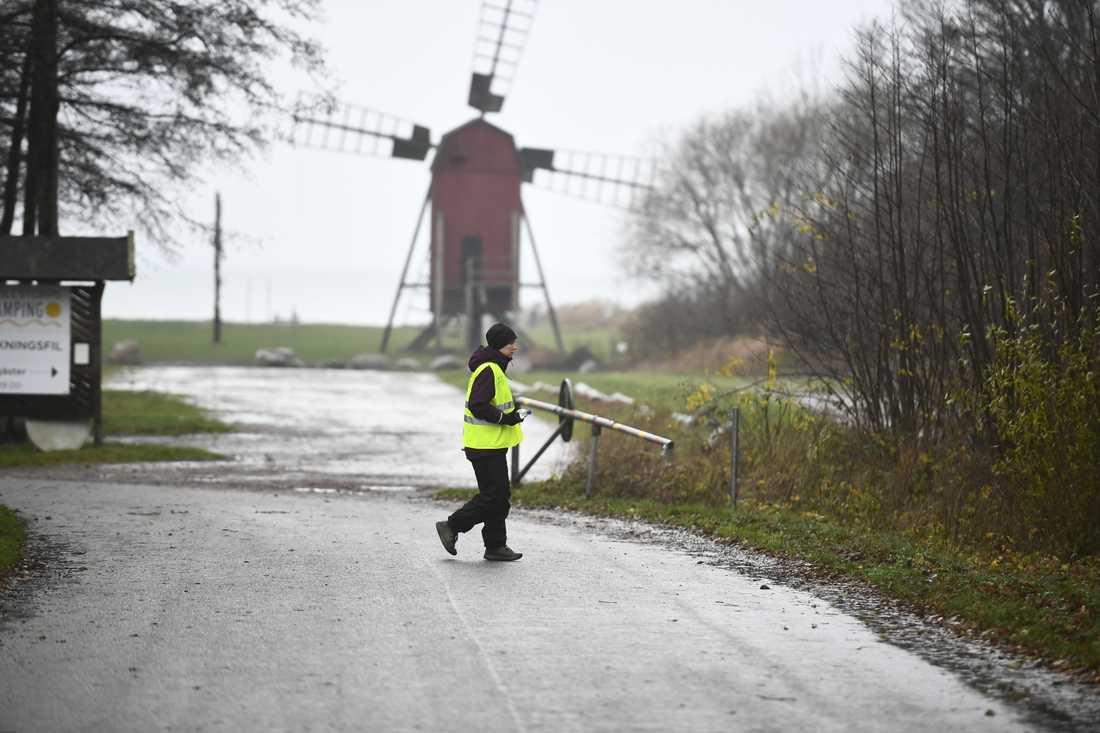 Frivilliga från Missing People i sökandet efter den försvunne sexåringen på Öland.