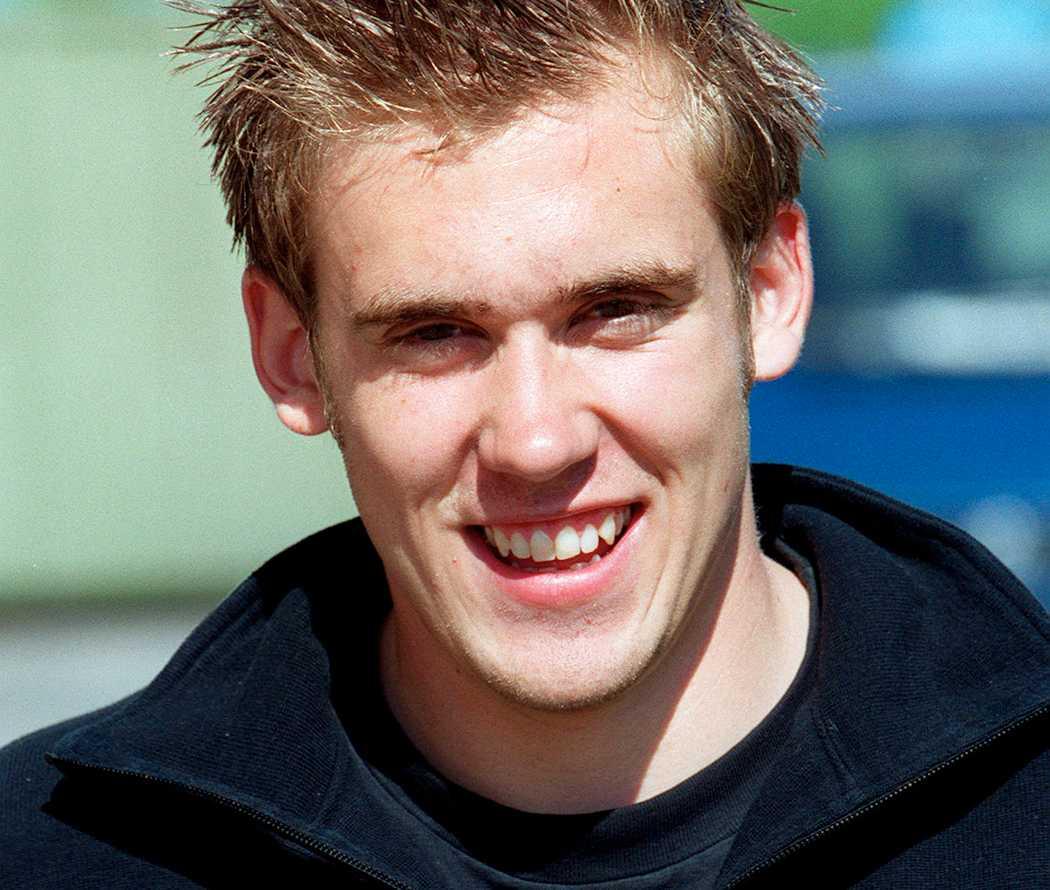 En ung Henrik Zetterberg. Bilden tagen år 2000.