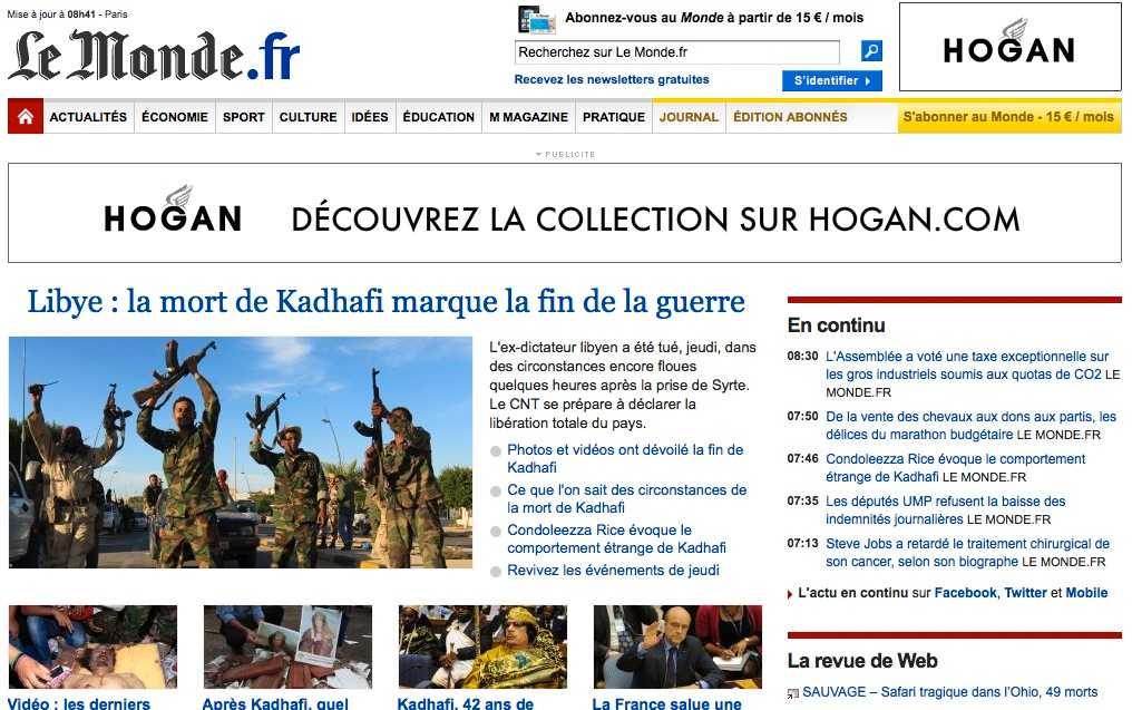 Franska Le Monde.