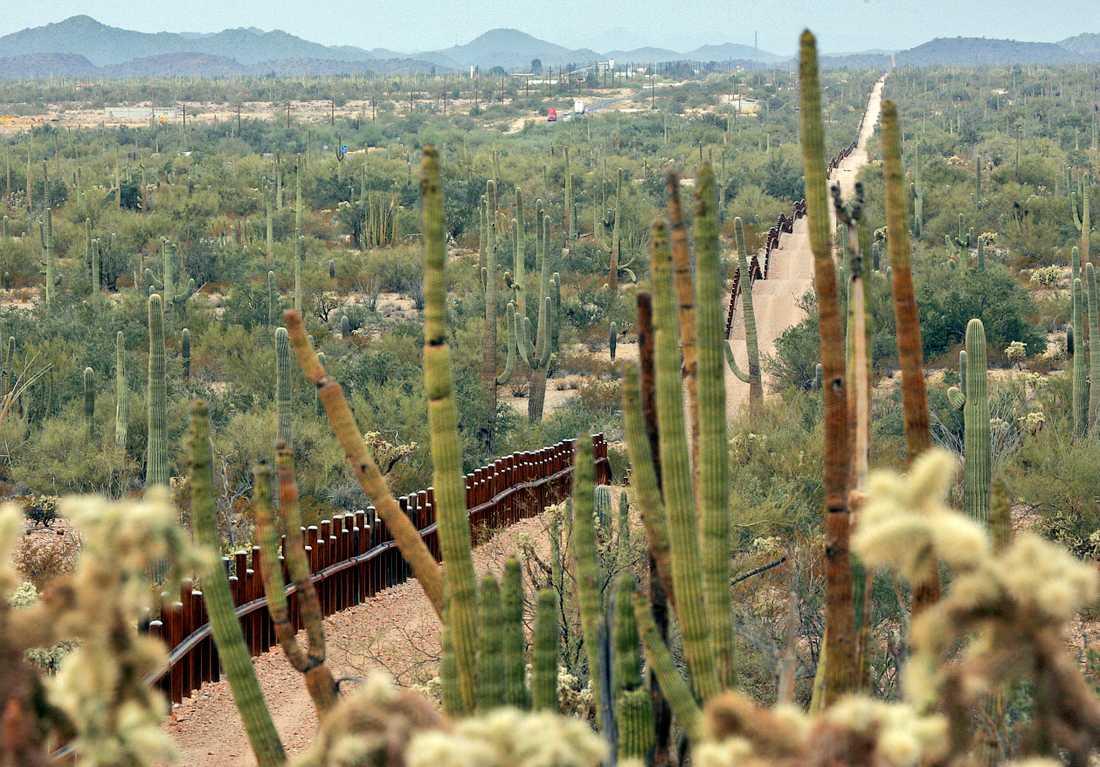 Gränsen till Mexiko.