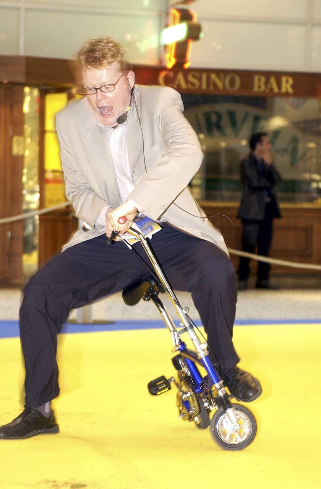 Göran spexar med cykel.