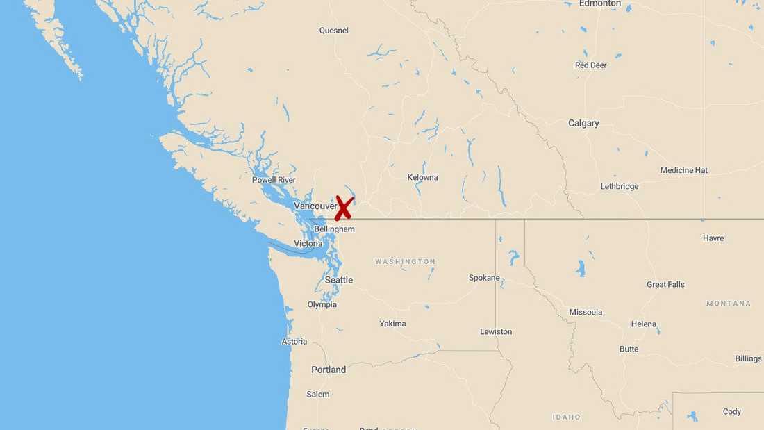 500 turister kan inte ta sig från skidorten Sasquatch Mountain Resort i Kanada efter ett jordskred. Arkivbild.