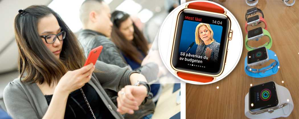 URHÄFTIGT Intresset för Apples nya klocka är stort. I dag släpps den i flera länder och Aftonbladets app går att ladda ner direkt.