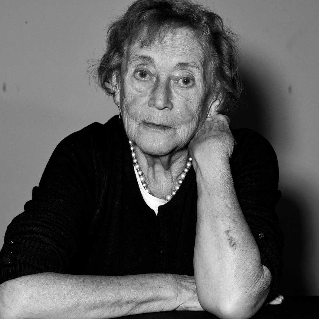 Judith, överlevande av Förintelsen. Har dokumenterats för utställningen på Kulturhuset i samarbete med Moderna museet senare i år.