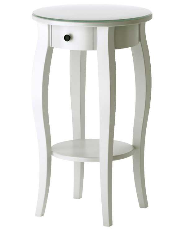 """Nätt romantik. Nätt avlastningsbord med liten låda fram, """"Hemnes"""", Ikea, 995 kr."""