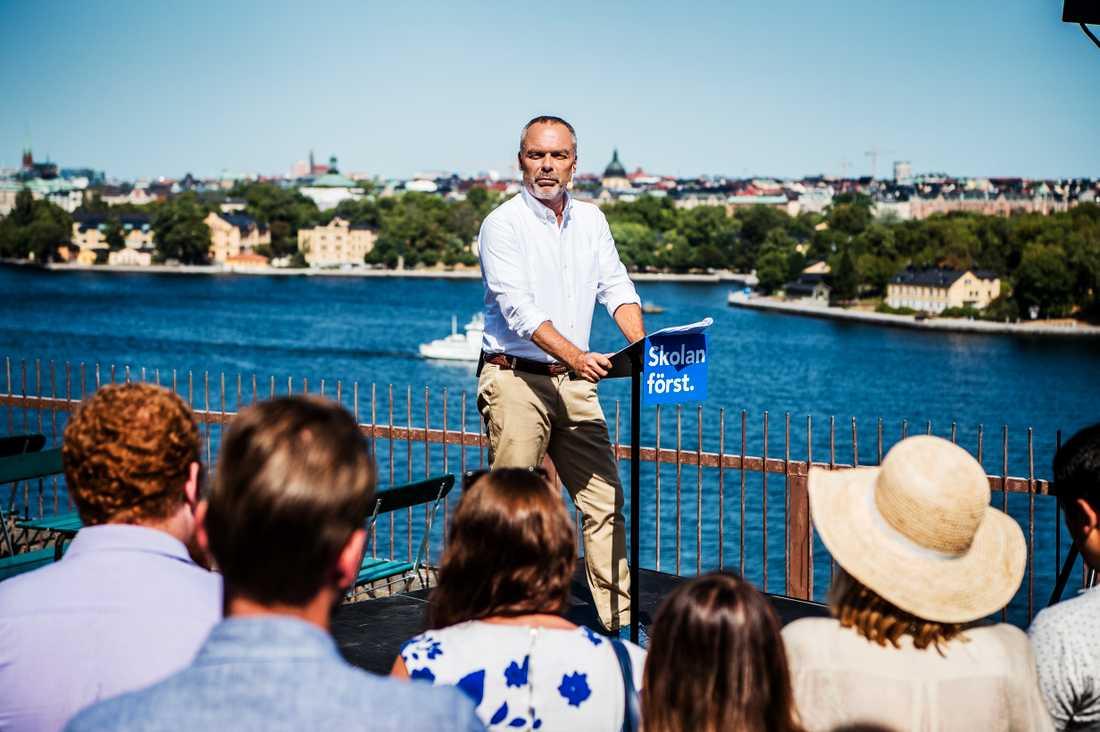 Jan Björklund sommartalar i Stockholm