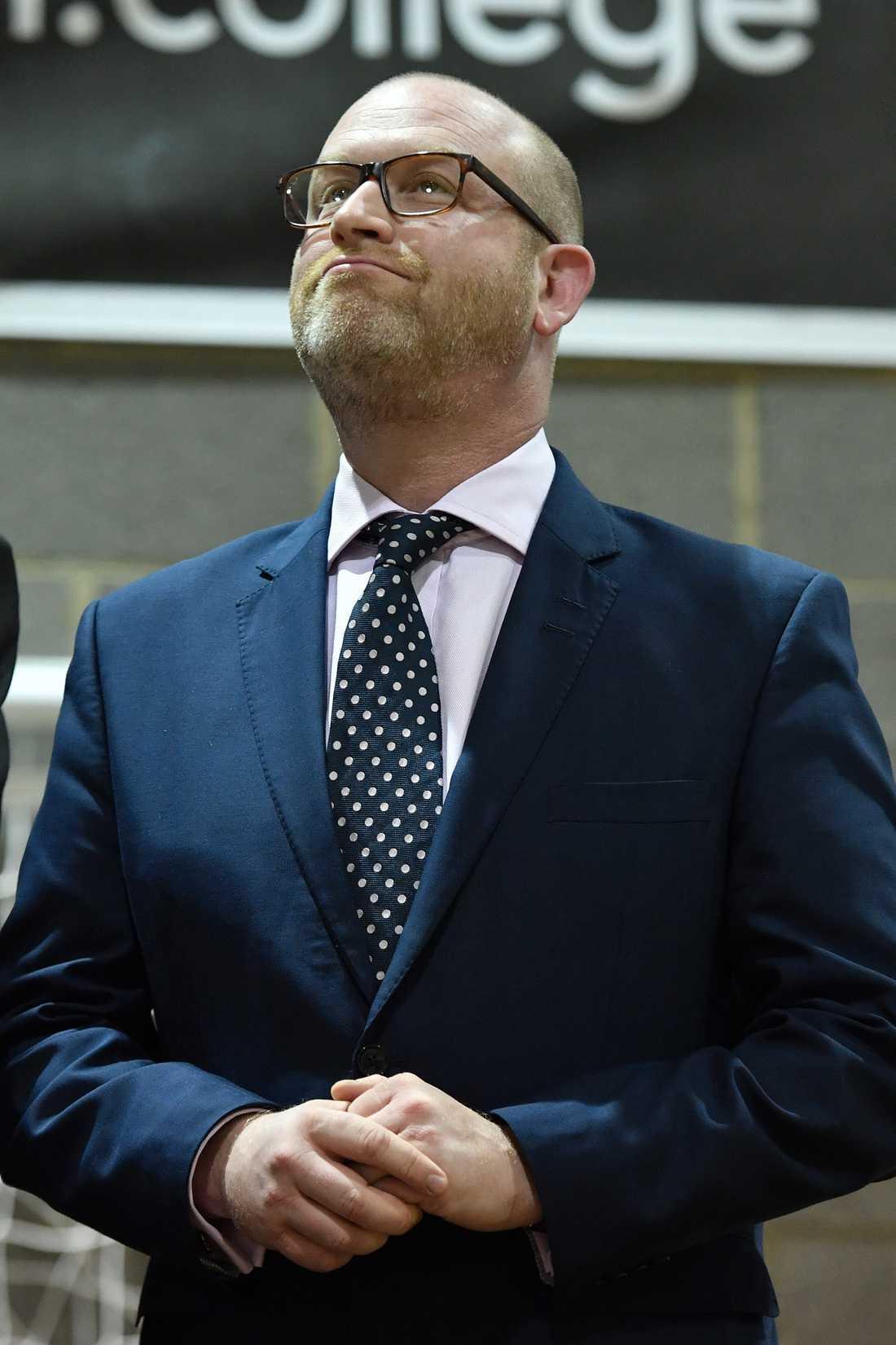 UKIP:s partiledare Paul Nuttall avgår