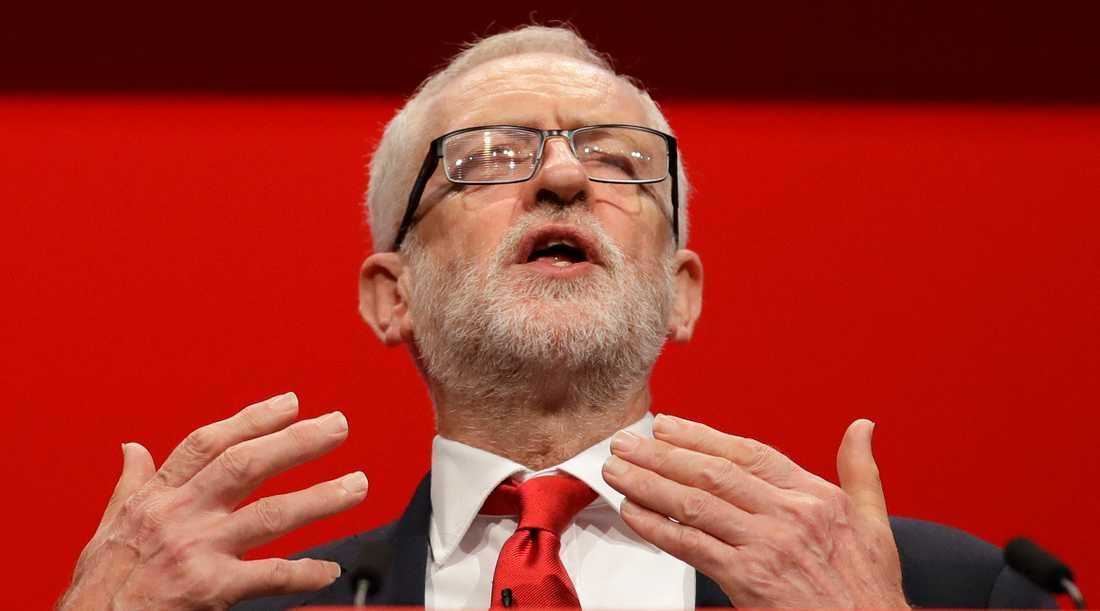 Jeremy Corbyn under Labours kongress i september.