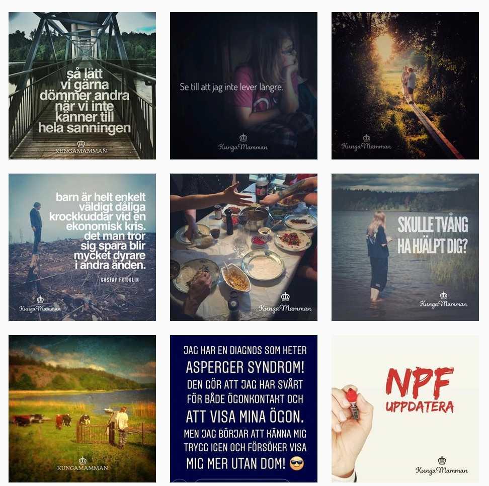 På Instagram delar AnnSophie med sig av sina erfarenheter kring NPF.