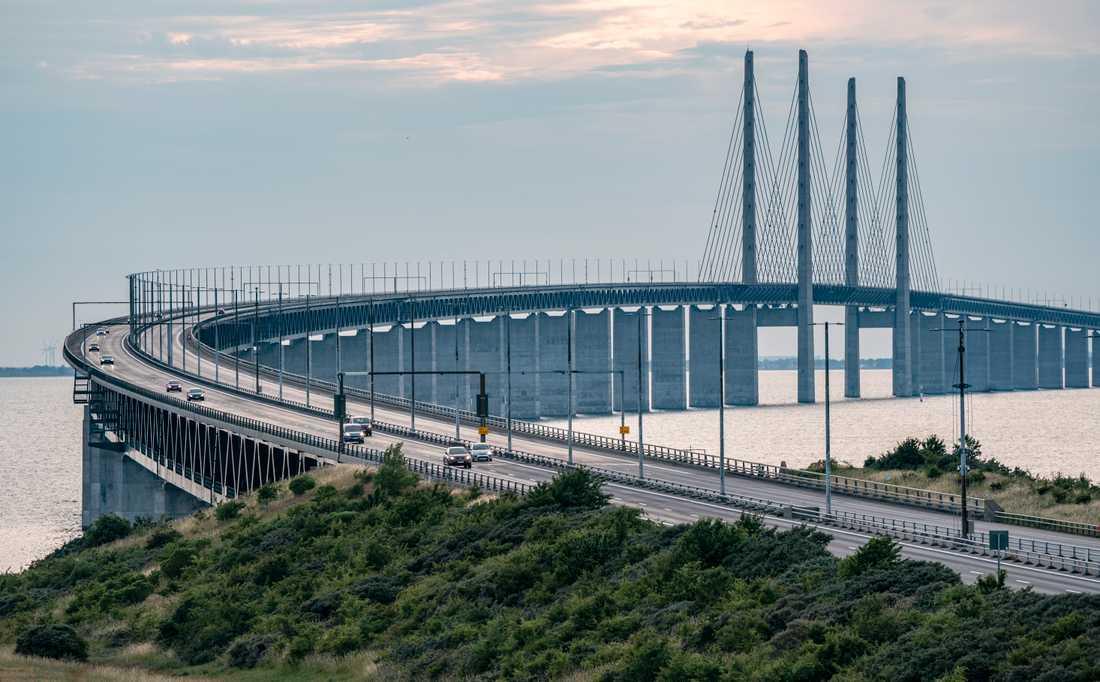 Trafiken på Öresundsbron har minskat kraftigt under vårens coronakris, då Danmark stängt gränsen. Arkivbild.