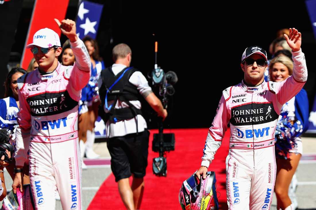 Mexikanen Sergio Perez (vänster) och fransmannen Esteban Ocon har inte den bästa teamkänslan bland F1-stallen.