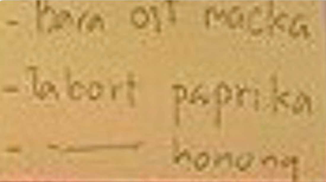 """Ett av förslagen på besparingar är """"ta bort paprika"""". Skärmdump från Instagram."""