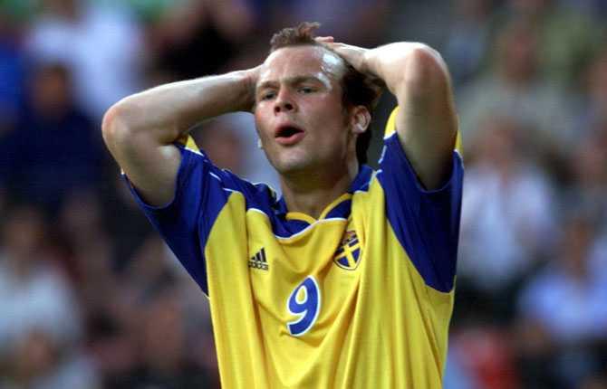 EM 2000 var Fredrik Ljungbergs första stora mästerskap   och även det mest misslyckade. Sverige slogs ut i gruppspelet.