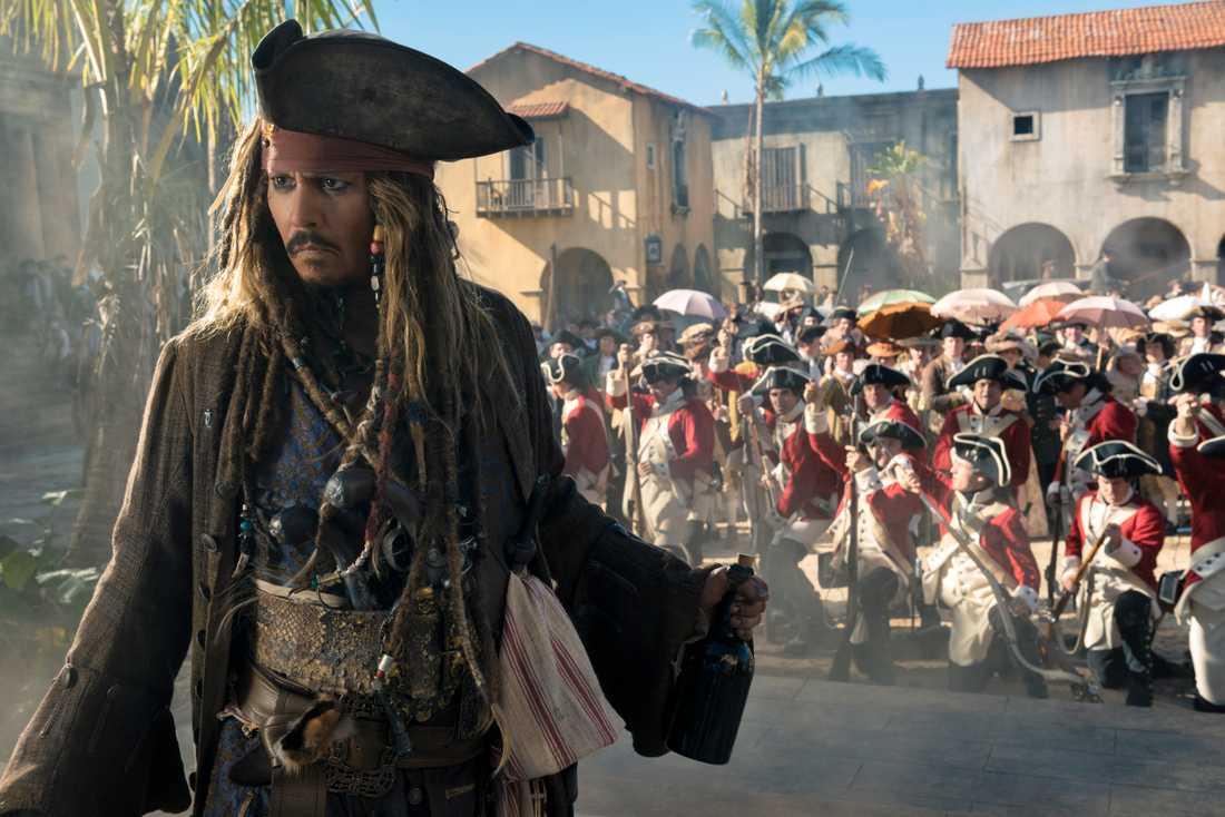"Johnny Depp i ""Pirates of the Carribean""."