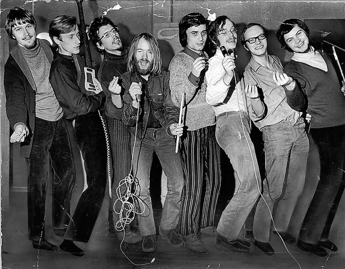 Proggbandet Blå tåget 1971. Foto: Kurt Berggren