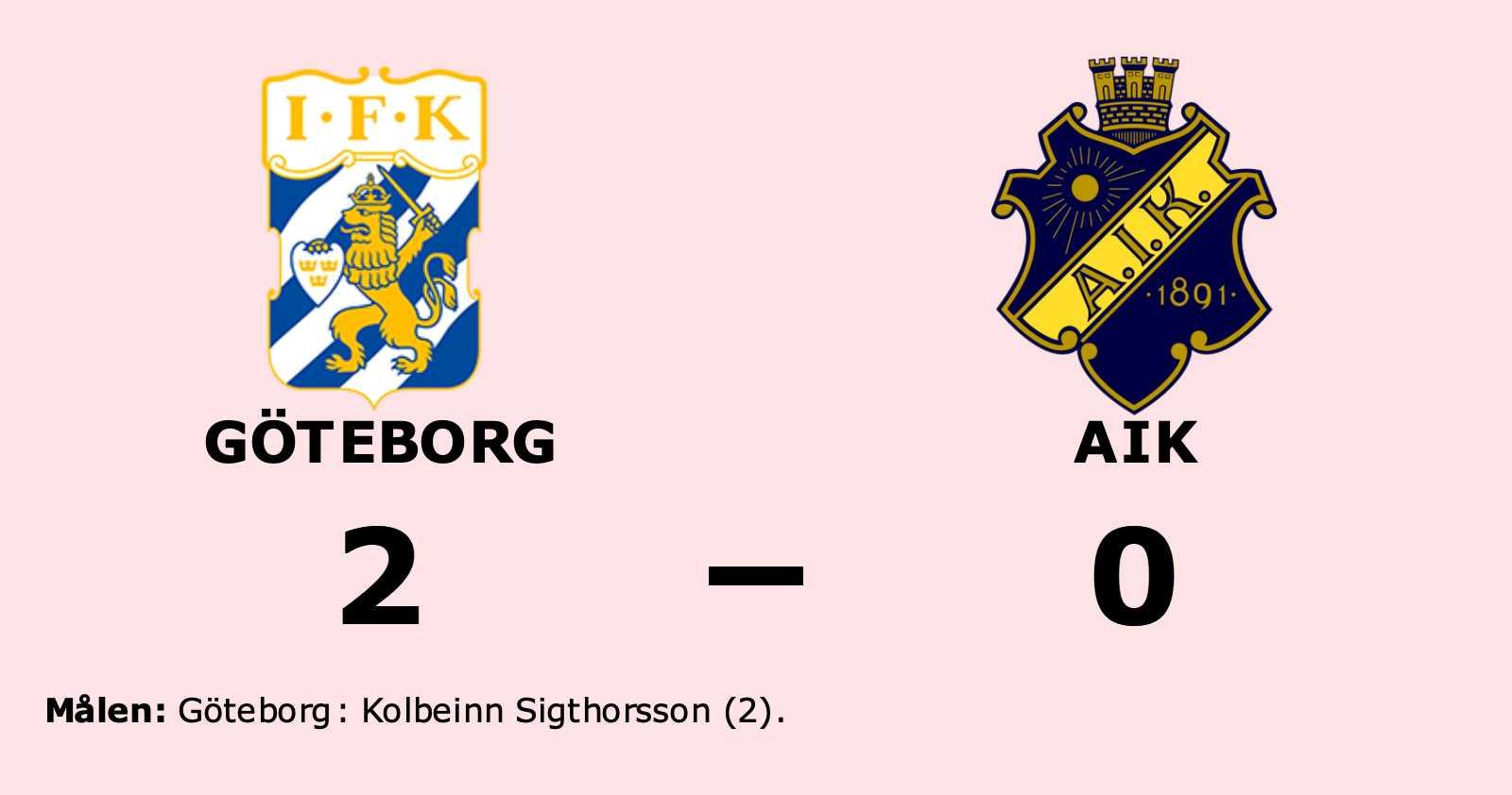 Sigthorsson matchvinnare när Göteborg vann mot AIK