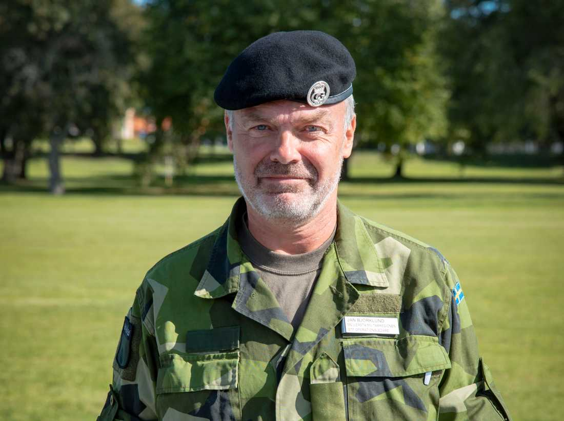 Jan Björklund har återanställts som reservofficer för tidvis tjänstgöring. I övrigt står han till arbetsmarknadens förfogande. Arkivbild.