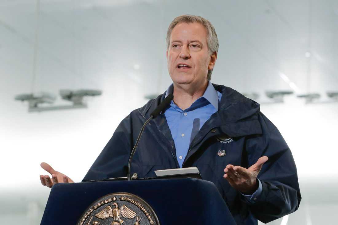 Staden New Yorks borgmästare Bill de Blasio. Arkivbild.