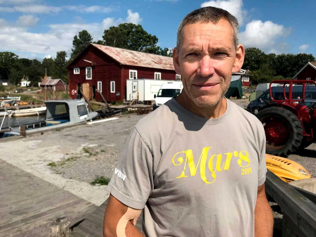 Johan Rönnby, professor i marinarkeologi, Södertörns högskola.