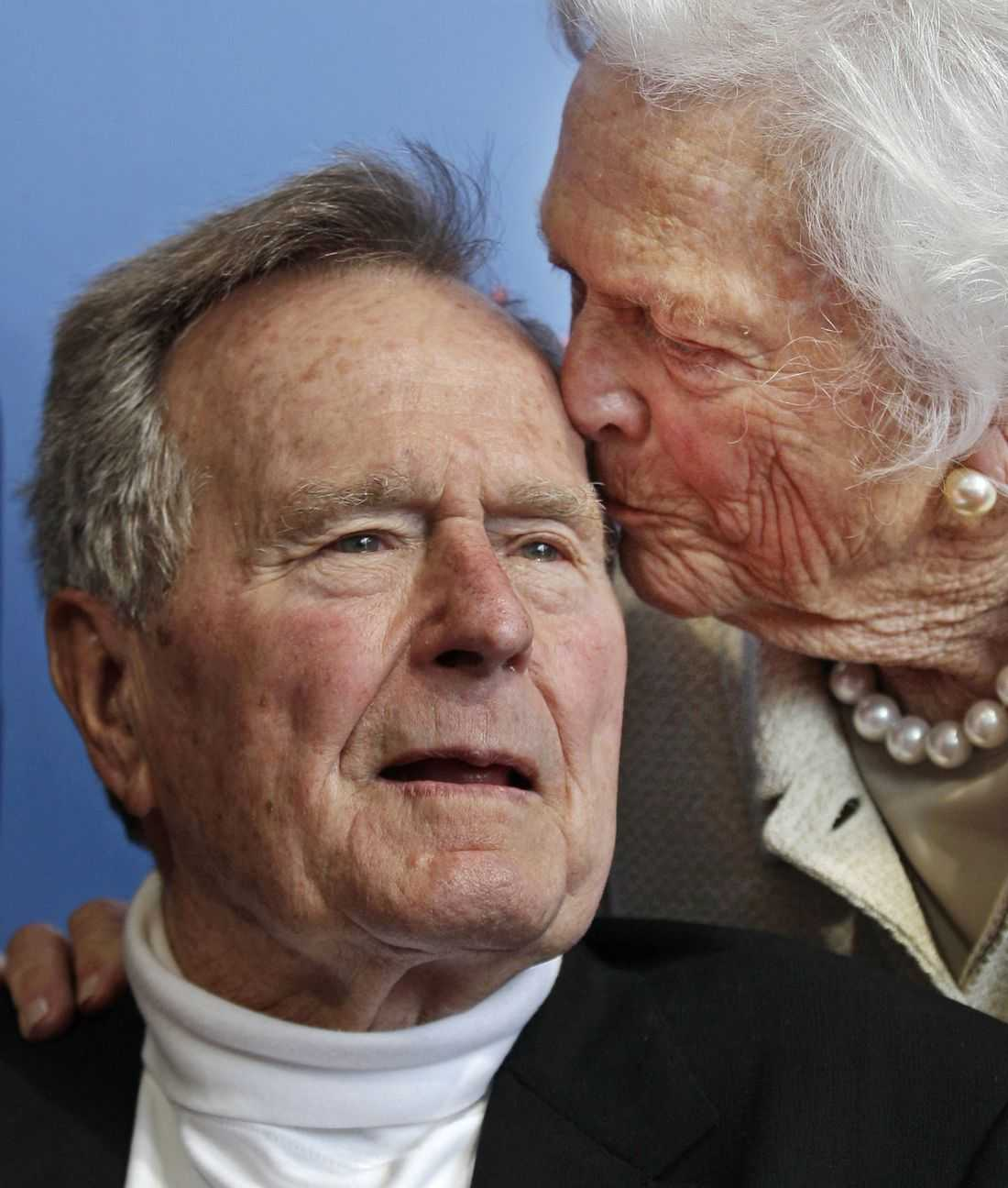 George H W Bush och Barbara Bush.