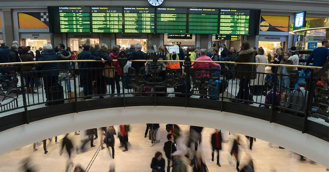 På tisdagsmorgonen rådde förseningar mellan Uppsala och Stockholm efter ett spårfel.