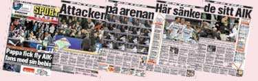 Tidningsklipp från Sportbladet 14 juni.