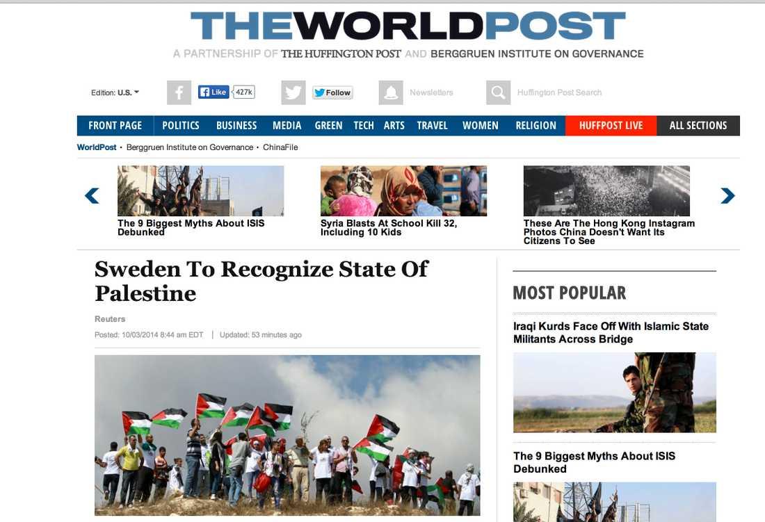 The World Post, en del av Huffington Post.