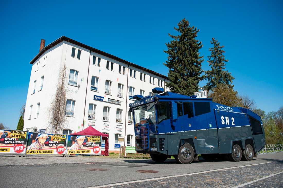 Krafttag mot nynazister i Tyskland. Bild från ett tidigare tillfälle.