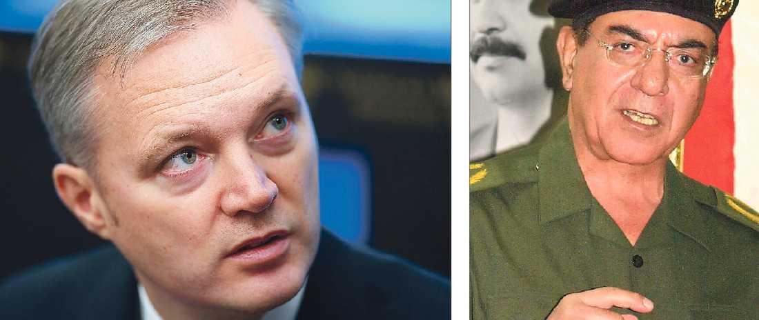 """BÅDA FÖRNEKAR FAKTA I går beskrev Sten Tolgfors Sveriges beredskap som god när Urban Ahlin (S) varnade för ett revanschistiskt Ryssland. """"Bagdad Bob"""" förnekade de amerikanska trupperna i Bagdad. Trots att alla tydligt kunde se att de var där."""