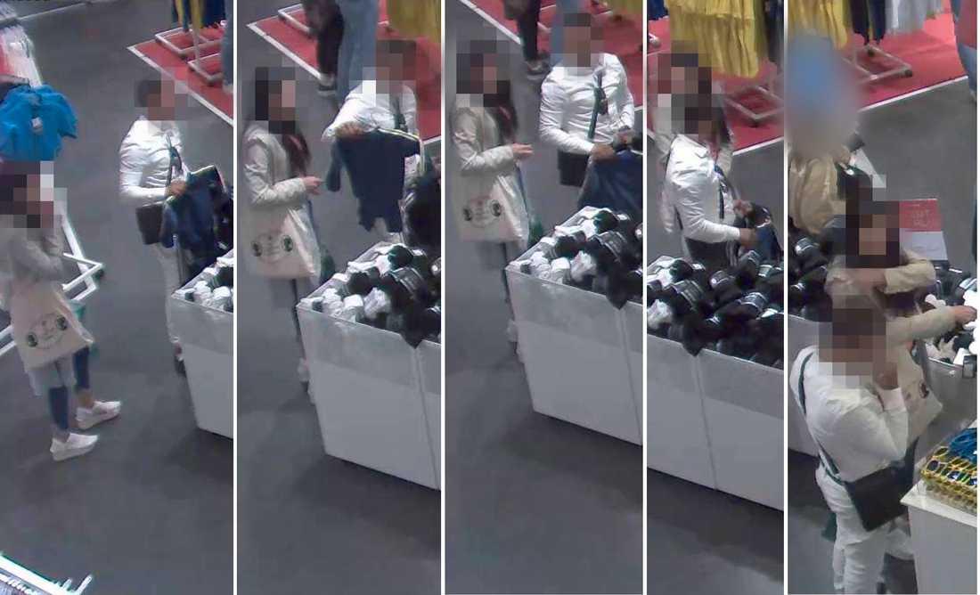 Paret syns handla på en Intersport-butik.